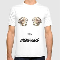 Mermaid Mens Fitted Tee SMALL White