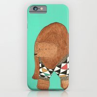iPhone & iPod Case featuring A bear in a sweater by Pips Ebersole