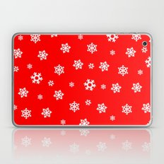 Snowflakes (White on Red) Laptop & iPad Skin