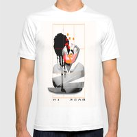 Bask In Mens Fitted Tee White SMALL