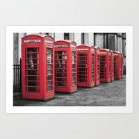 The Phone Boxes  Art Print