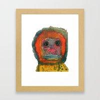 monki Framed Art Print