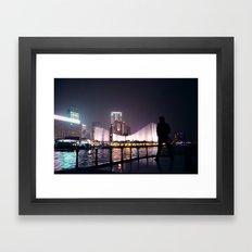 Hong Kong harbour Framed Art Print