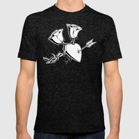 A Heart and 2 Roses Mens Fitted Tee Tri-Black SMALL