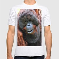 Orangutan Mens Fitted Tee Ash Grey SMALL