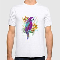 Parrot Elua  - Style A Mens Fitted Tee Ash Grey SMALL