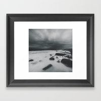 The White Coast Framed Art Print
