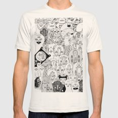 School daze Mens Fitted Tee Natural SMALL