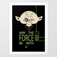 Starwars Yoda - May The … Art Print