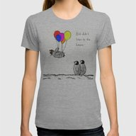 To Be A Flying Penguin  Womens Fitted Tee Athletic Grey LARGE