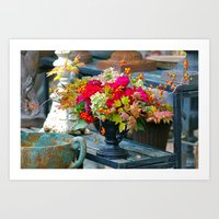 Fall Floral Arrangement Art Print
