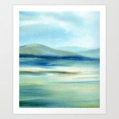 Winter land Art Print