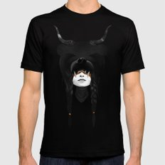 Bear Warrior SMALL Black Mens Fitted Tee