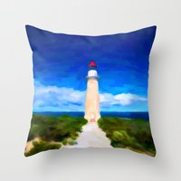 The Lighthouse - Painting Style Throw Pillow