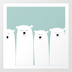 Polar people Art Print