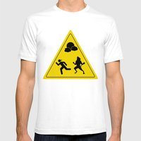 Full Moon - Take Caution… Mens Fitted Tee White SMALL