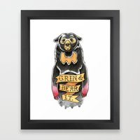 Grin and Bear It Framed Art Print