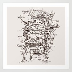 Howl's Moving Castle Pla… Art Print