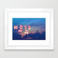 Tara Motel Framed Art Print