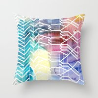 colorful Indians Throw Pillow