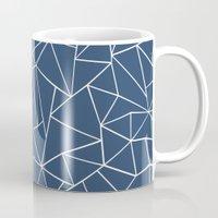 Abstraction Outline Navy Mug