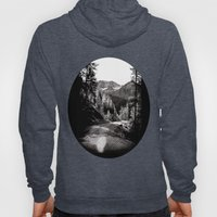 The road through the forrest below the mountains Hoody
