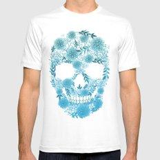 Flower Skull SMALL Mens Fitted Tee White