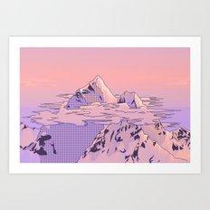 Peach Sunset Art Print