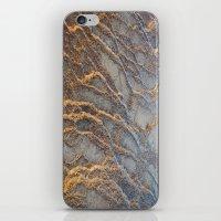 Travertine - blue gray iPhone & iPod Skin