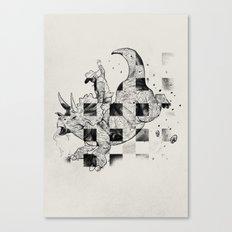 Rodeosaurs Canvas Print