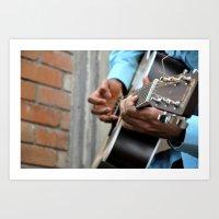 Guitar Strings  Art Print
