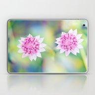 Pink Flower Power Laptop & iPad Skin