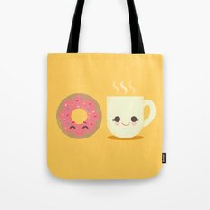 Coffee and Donut Buds Tote Bag