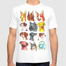 Brush Breeds Compilation 2 Mens Fitted Tee SMALL White