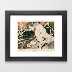 The Black Framed Art Print