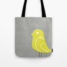 Bird on tussocks Tote Bag