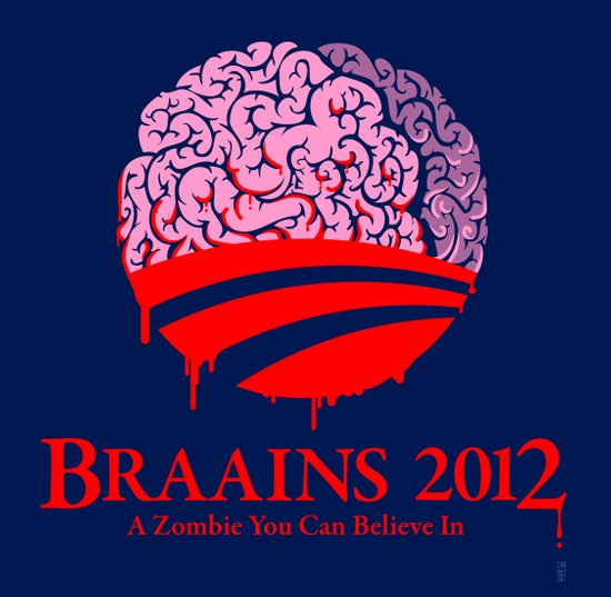Vote Braains 2012 - A Zombie You Can Believe In Canvas Print