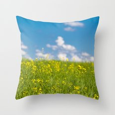 Prairie Summer  Colors Throw Pillow