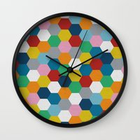 Honeycomb 3 Wall Clock