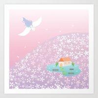 Flower Hill Art Print