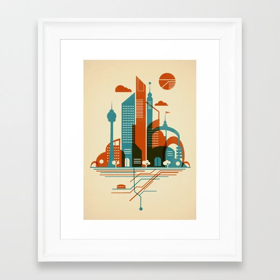 From the Subway to the Sky Framed Art Print