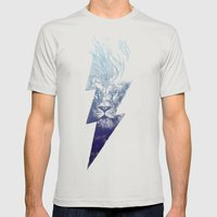 King of the Clouds Mens Fitted Tee Silver SMALL