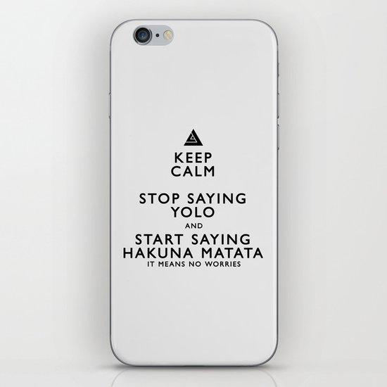 Keep Calm Forget YOLO - BLACK iPhone & iPod Skin