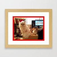 LES CATASTROPHES XMAS EDITION Framed Art Print