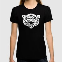 An Béar Bán (The White… Womens Fitted Tee Black SMALL