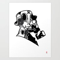 My Dexterous Shadow  B&W 1 of 4 Art Print