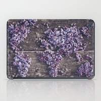 Lilac world map iPad Case