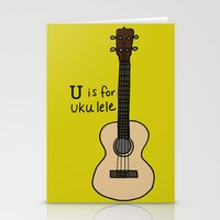 U Is For Ukulele Stationery Cards