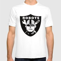Raider Robots Mens Fitted Tee White SMALL