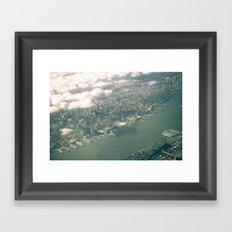 From Above: Manhattan 2 Framed Art Print
